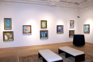 One of 23 exhibition spaces at Park West Gallery, with this space featuring Lebo art.
